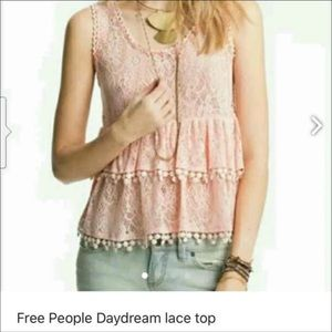 Free People crop lace top xs